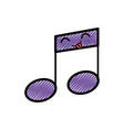 musical note cartoon smiley vector image