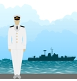 Navy US Army officer vector image