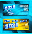 new year party 2020 banners gradient design set vector image