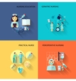 Nurse icon set flat vector image vector image