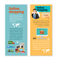 online shopping vertical flyers design vector image vector image