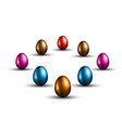 original easter design template with glossy 3d vector image