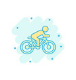 people on bicycle sign icon in comic style bike vector image vector image