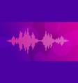 pink violet sound waves vector image
