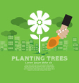 Planting Trees vector image vector image