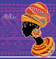 portrait african woman in ethnic turban vector image vector image