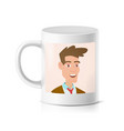 print photo on cup realistic personalized vector image vector image