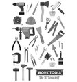 repair and construction work tools icons vector image vector image