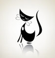 romantic black pussycat dreaming vector image vector image