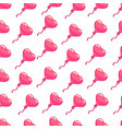 seamless pattern pink hearts balloon vector image