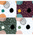 seamless patterns in simple naive style vector image vector image