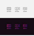 set icons for social networks like mark for vector image