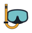 snorkeling mask diving icon image vector image vector image