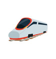 speed modern super streamlined high speed railway vector image vector image