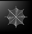 spider on web gray 3d vector image vector image