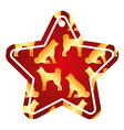 star tag japanese dog calendar pattern vector image