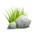 Stones with grass vector image vector image