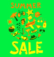 summer sale lettring shopping background with vector image vector image
