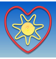 Sun in the heart vector image