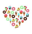 sweets dessert isolated on vector image vector image