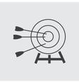 Target amd arrow icon vector image