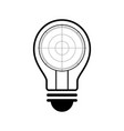 technology future radar screen light bulb vector image vector image