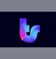 ts t s spink blue gradient alphabet letter vector image vector image