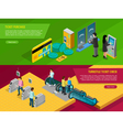 Underground Banners Set vector image vector image