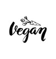vegan lettering sign vector image