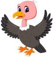 vulture cartoon vector image vector image