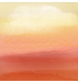 watercolour sunset background vector image vector image
