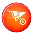 Wheelbarrow icon flat style vector image vector image