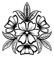 wild rose flowers drawing and sketch line-art vector image vector image