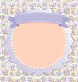Postcard Lilac snowflakes colorful circles vintage vector image