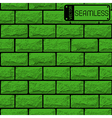 Realistic seamless texture of green brick wall vector image
