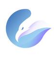 eagle logo template vector image
