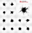 Set of grunge splashes vector image
