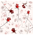 Beautiful seamless rose pattern vector image