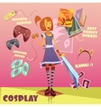 Cosplay Character vector image
