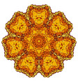abstract gold mandala vector image