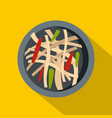 asian salad icon flat style vector image vector image