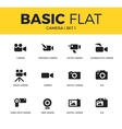 Basic set of Camera icons vector image vector image