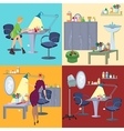 Beauty salon spa flat people and furniture vector image vector image