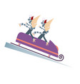 bobsleigh cartoon isolated vector image
