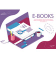 book library concept banner for news vector image