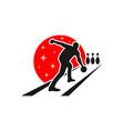 bowling ball sport modern logo vector image vector image