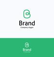 Brand B loop logo vector image vector image