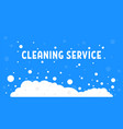 cartoon cleaning service with white foam vector image