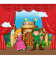 Children doing stage play vector image vector image