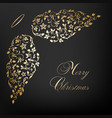 christmas card with angel wings vector image